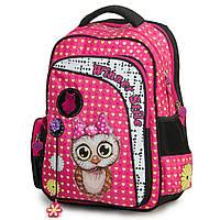 Рюкзак школьный для девочек Winner-stile для младших и средних классов 3D ортопедическая спинка розовый