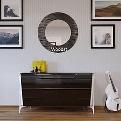 Зеркало настенное круглое Canberra черное