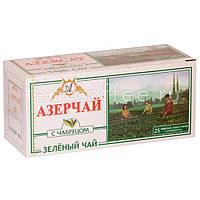 Чай Азерчай зеленый с чабрецом в пакетиках 25 шт 50гр