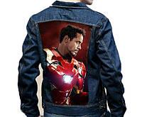 Роспись курток. Роспись по одежде. Роспись по джинсовой ткани. Куртка МАРВЕЛ. MARVEL