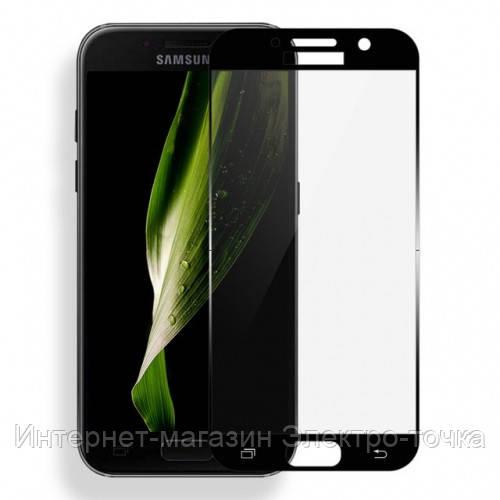 Защитное стекло 3D Samsung Galaxy A7 A720 (2017) черное