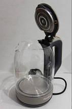 Электрочайник стеклянный Rainberg RB 6206, электрический чайник Раинберг RB-905 2200ВТ, фото 2
