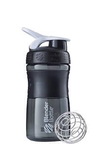 Спортивная бутылка-шейкер BlenderBottle SportMixer 590ml Black-White, Original R144886