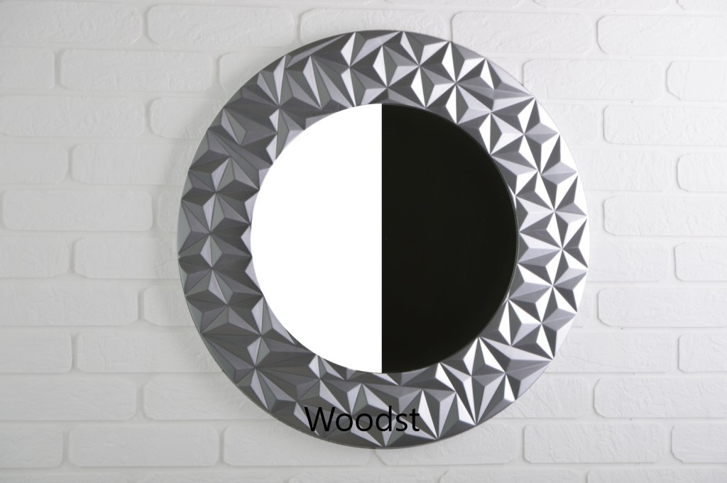 Зеркало настенное Vatican серебряное