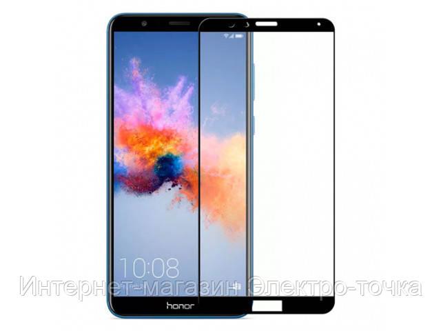 Защитное стекло 3D Huawei Honor 7X черное