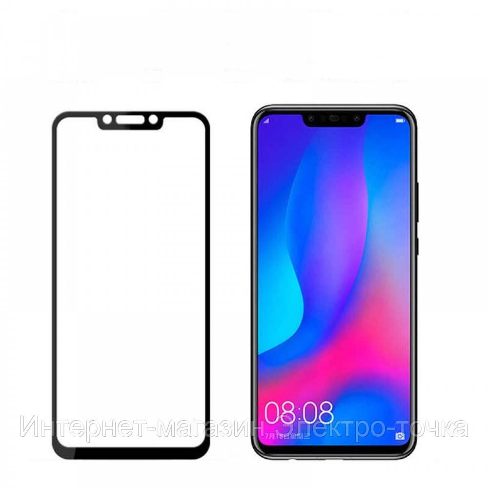 Защитное стекло 3D Huawei Nova 3 черное