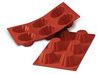 Силиконовая форма для кексов 79 мм, h 37 мм красная