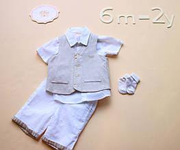 Детский костюм для мальчика Нарядная одежда для мальчиков BRUMS Италия 151BBEA012