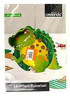 """M7-220034, Декор-самоделка """"Динозаврик"""", , зеленый-разноцветный"""