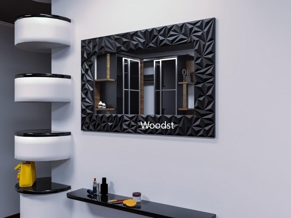 Зеркало прямоугольное настенное в черной раме Verona