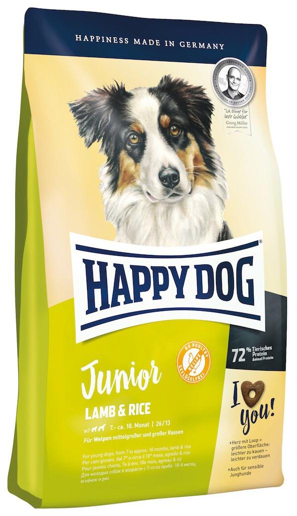 Happy Dog Supreme Junior Lamb & Rice корм для цуценят з чутливою травною системою, 10 кг