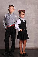 Детская рубашка для мальчика Byblos Италия bu0756 серый, белый