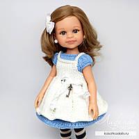 Платье с фартуком для кукол Паола Рейна, фото 1