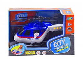Вертолет музыкальный Полиция (синий)