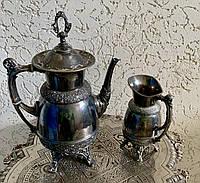 Кофейник и Молочник Посеребренные 19 век США