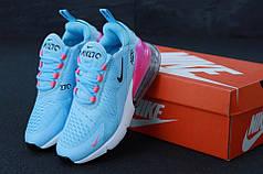 Женские кроссовки Nike Air Max 270 Blue Red. ТОП Реплика ААА класса.