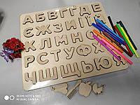 Абетка з дерева, абетка-пазл, алфавіт український