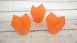 Формы бумажные для кексов Тюльпан 50*75 мм, Оранжевые
