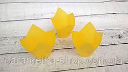 Формы бумажные для кексов Тюльпан 50*75 мм,Желтые