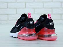 Женские кроссовки Nike Air Max 270 Black White. ТОП Реплика ААА класса., фото 3