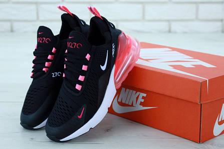 Женские кроссовки Nike Air Max 270 Black White. ТОП Реплика ААА класса., фото 2