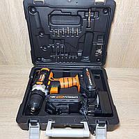 Шуруповерт 2 аккум, 18В, 1,3Ач Li-on, 2 скорости 0-400, 0- 1500, об/мин (пр-во Storm)