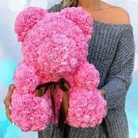 🔥 Мишка Teddy из искуственных 3D роз, подарочный, 40 см