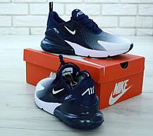 Мужские кроссовки Nike Air Max 270 Blue White. ТОП Реплика ААА класса., фото 2