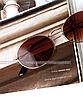 Солнцезащитные очки коричневые стеклянные овальные, фото 4