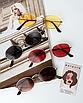 Солнцезащитные очки коричневые стеклянные овальные, фото 8