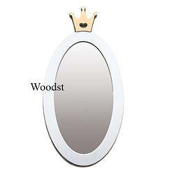 Зеркало в детскую комнату Princess белое