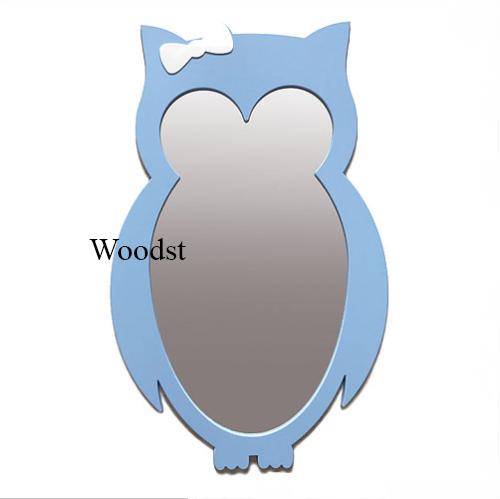 Зеркало в детскую комнату Owl голубое