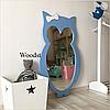 Зеркало в детскую комнату Owl голубое, фото 2