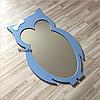 Зеркало в детскую комнату Owl голубое, фото 3