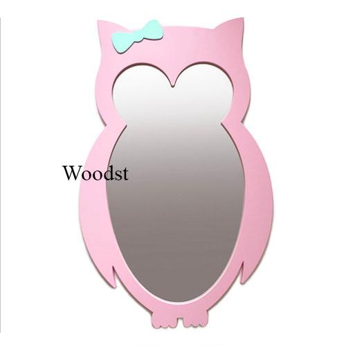 Зеркало в детскую комнату Owl розовое