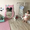 Зеркало в детскую комнату Owl розовое, фото 2