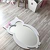 Зеркало в детскую комнату Owl белое, фото 2