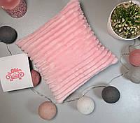 Детская декоративная плюшевая подушка, розовый