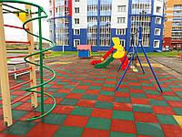 Резиновое спортивное (напольное) покрытие для детских площадок, спортзала 25мм OSPORT (П25)
