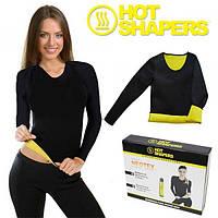 Спортивная футболка с длинным рукавом для тренировок (похудения) Hot Shapers (MS 0601)