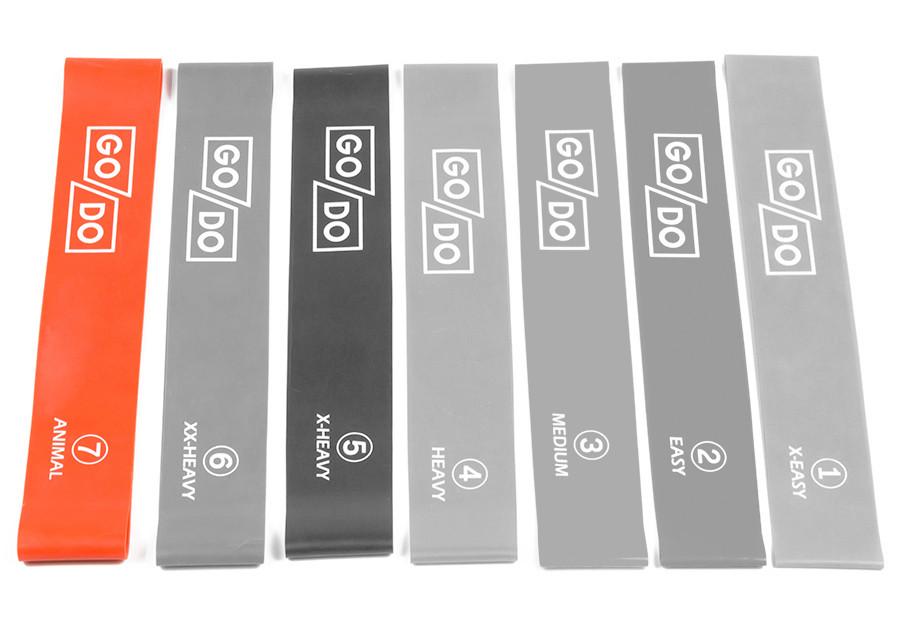 """Резинка для фитнеса (кольцо) GoDo Animal """"5XL #7"""" (оранжевая)"""