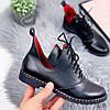 Ботинки женские Ella демисезонные черные натуральная кожа )), фото 9