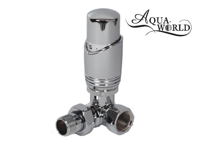 Кран с термоголовкой угловой 90* Aqua-World XF650C