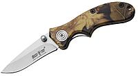 Нож складной с пластиковой рукояткой, камуфляжного цвета, отличный подарок для рыбака, охотника, туриста