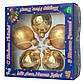 Набор елочных шаров с декором 6*5шт (3 гл., 2 мат.), стекло, золото елка (390304-6), фото 2