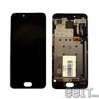 ✅Дисплей (экран) Meizu Pro 6 (M570H) / Pro 6s с сенсорным стеклом и рамкой, черный