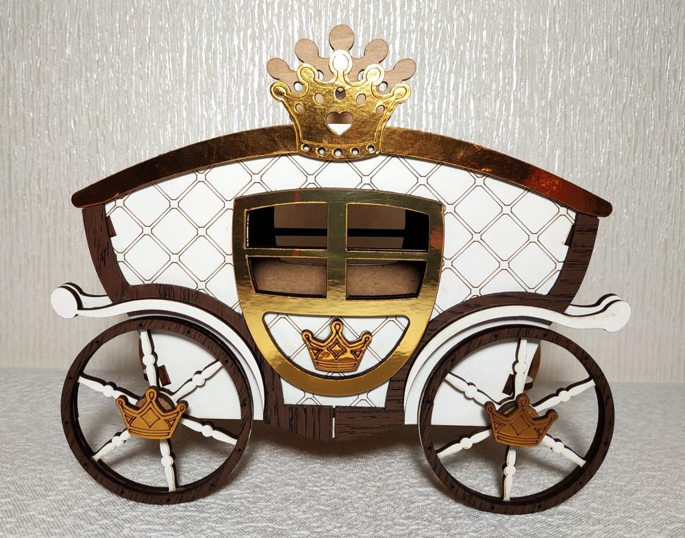 Шкатулка-Карета большая (для игр, хранения украшений, конфет)