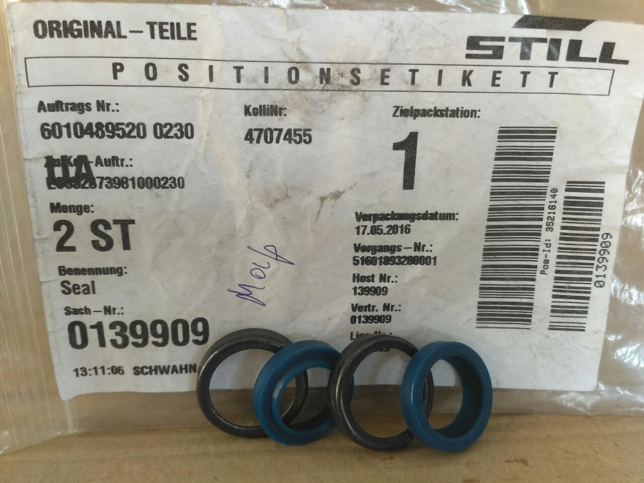 STILL 0139909 / Bolzoni 41041274 уплотнение / ущільнення