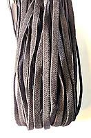 Шнурки плоские Серые резиновые 100см