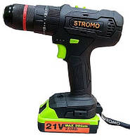 Шуруповерт аккумуляторный Stromo SA 214 LI Extra (21 В, ударный с гибкий валом)